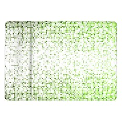 Green Square Background Color Mosaic Samsung Galaxy Tab 10 1  P7500 Flip Case