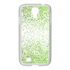 Green Square Background Color Mosaic Samsung Galaxy S4 I9500/ I9505 Case (white)