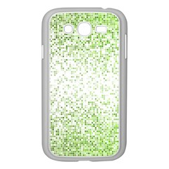 Green Square Background Color Mosaic Samsung Galaxy Grand Duos I9082 Case (white)