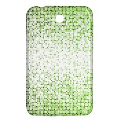 Green Square Background Color Mosaic Samsung Galaxy Tab 3 (7 ) P3200 Hardshell Case