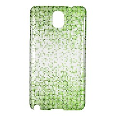 Green Square Background Color Mosaic Samsung Galaxy Note 3 N9005 Hardshell Case