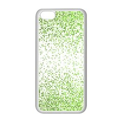 Green Square Background Color Mosaic Apple Iphone 5c Seamless Case (white)