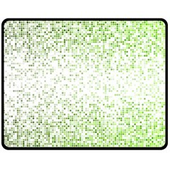 Green Square Background Color Mosaic Double Sided Fleece Blanket (medium)
