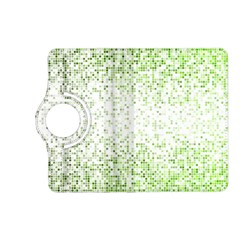 Green Square Background Color Mosaic Kindle Fire Hd (2013) Flip 360 Case