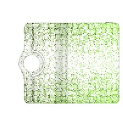 Green Square Background Color Mosaic Kindle Fire Hdx 8 9  Flip 360 Case