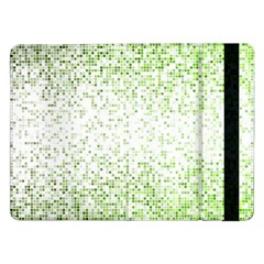 Green Square Background Color Mosaic Samsung Galaxy Tab Pro 12 2  Flip Case