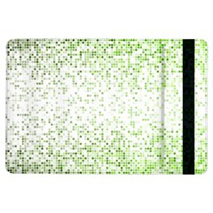 Green Square Background Color Mosaic Ipad Air Flip