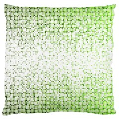 Green Square Background Color Mosaic Large Flano Cushion Case (two Sides)