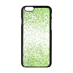 Green Square Background Color Mosaic Apple Iphone 6/6s Black Enamel Case
