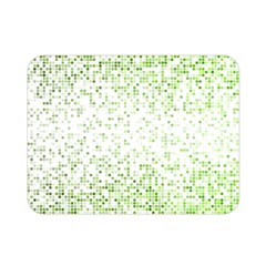 Green Square Background Color Mosaic Double Sided Flano Blanket (mini)
