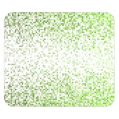 Green Square Background Color Mosaic Double Sided Flano Blanket (small)
