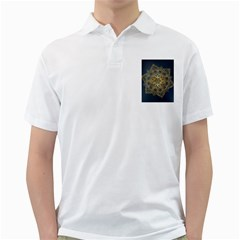 Gold Mandala Floral Ornament Ethnic Golf Shirts