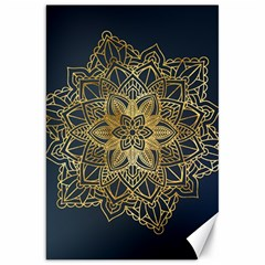 Gold Mandala Floral Ornament Ethnic Canvas 20  X 30