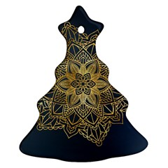 Gold Mandala Floral Ornament Ethnic Ornament (christmas Tree)