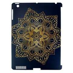 Gold Mandala Floral Ornament Ethnic Apple Ipad 3/4 Hardshell Case (compatible With Smart Cover)
