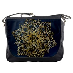 Gold Mandala Floral Ornament Ethnic Messenger Bags