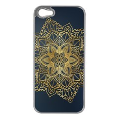 Gold Mandala Floral Ornament Ethnic Apple Iphone 5 Case (silver)