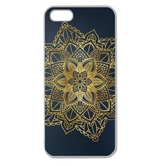 Gold Mandala Floral Ornament Ethnic Apple Seamless Iphone 5 Case (clear)