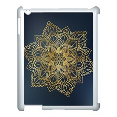 Gold Mandala Floral Ornament Ethnic Apple Ipad 3/4 Case (white)