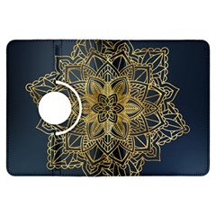 Gold Mandala Floral Ornament Ethnic Kindle Fire Hdx Flip 360 Case