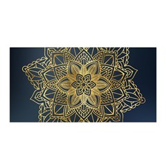 Gold Mandala Floral Ornament Ethnic Satin Wrap