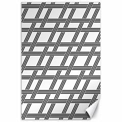 Grid Pattern Seamless Monochrome Canvas 24  X 36