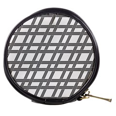 Grid Pattern Seamless Monochrome Mini Makeup Bags