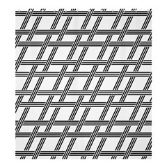 Grid Pattern Seamless Monochrome Shower Curtain 66  X 72  (large)