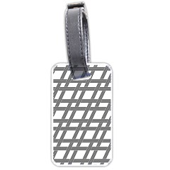Grid Pattern Seamless Monochrome Luggage Tags (one Side)