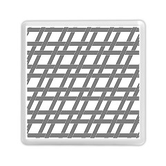 Grid Pattern Seamless Monochrome Memory Card Reader (square)