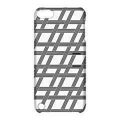 Grid Pattern Seamless Monochrome Apple Ipod Touch 5 Hardshell Case With Stand