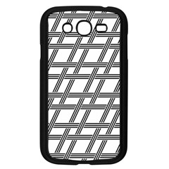 Grid Pattern Seamless Monochrome Samsung Galaxy Grand Duos I9082 Case (black)