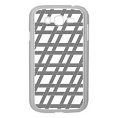 Grid Pattern Seamless Monochrome Samsung Galaxy Grand Duos I9082 Case (white)