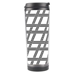 Grid Pattern Seamless Monochrome Travel Tumbler