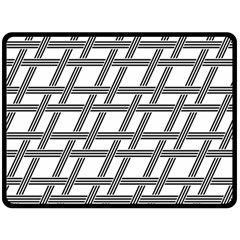 Grid Pattern Seamless Monochrome Double Sided Fleece Blanket (large)