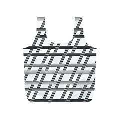 Grid Pattern Seamless Monochrome Full Print Recycle Bags (s)