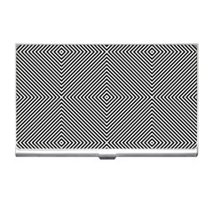 Diagonal Stripe Pattern Seamless Business Card Holders