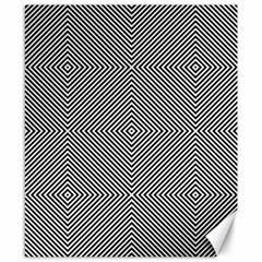 Diagonal Stripe Pattern Seamless Canvas 8  X 10