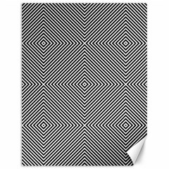 Diagonal Stripe Pattern Seamless Canvas 12  X 16