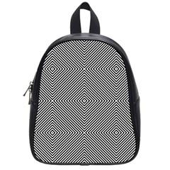 Diagonal Stripe Pattern Seamless School Bag (small)