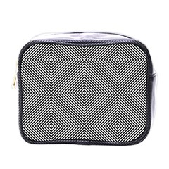 Diagonal Stripe Pattern Seamless Mini Toiletries Bags
