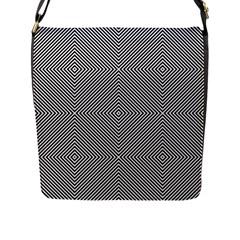 Diagonal Stripe Pattern Seamless Flap Messenger Bag (l)