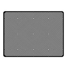 Diagonal Stripe Pattern Seamless Double Sided Fleece Blanket (small)