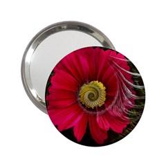 Fantasy Flower Fractal Blossom 2 25  Handbag Mirrors