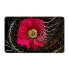 Fantasy Flower Fractal Blossom Magnet (rectangular)