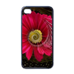 Fantasy Flower Fractal Blossom Apple Iphone 4 Case (black)