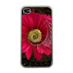 Fantasy Flower Fractal Blossom Apple Iphone 4 Case (clear)