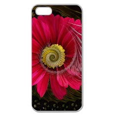 Fantasy Flower Fractal Blossom Apple Seamless Iphone 5 Case (clear)