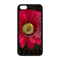 Fantasy Flower Fractal Blossom Apple Iphone 5c Seamless Case (black)