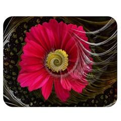 Fantasy Flower Fractal Blossom Double Sided Flano Blanket (medium)